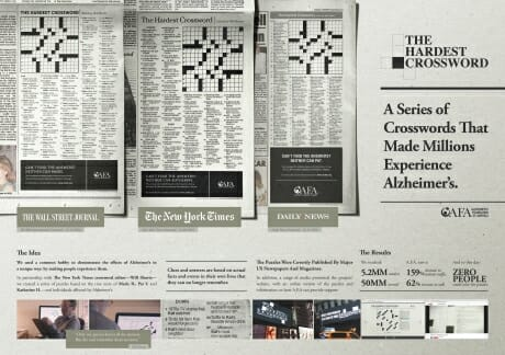 AREA23, The Hardest Crossword, Consumer Print Campaign Silver