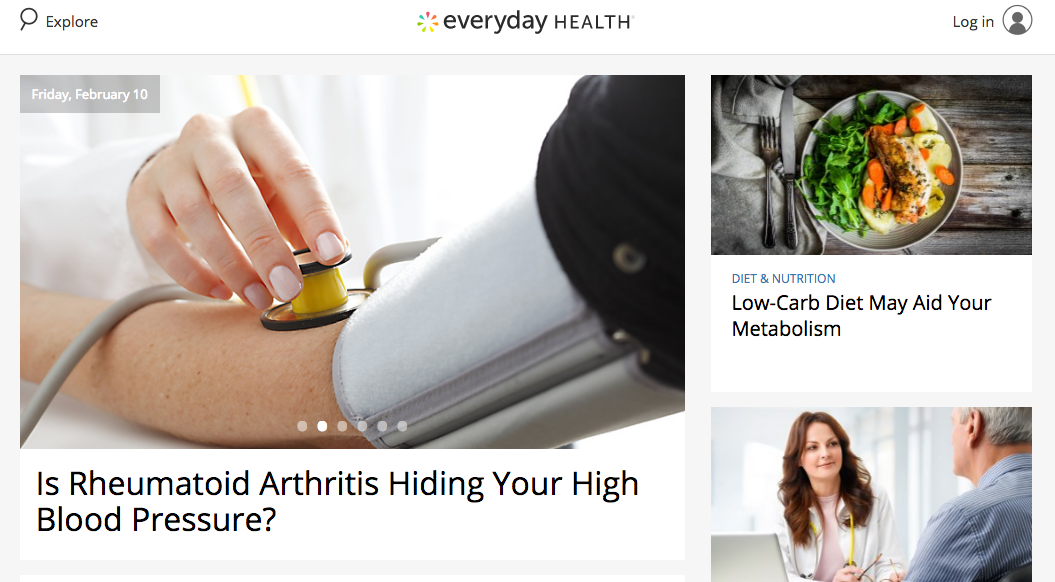 Everyday Health website