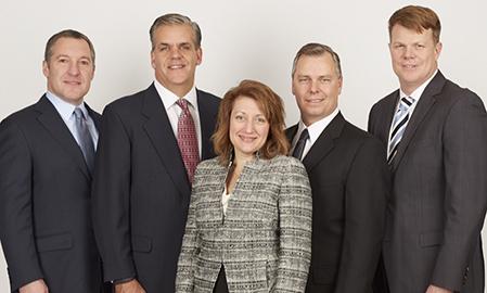 From left: John Duffey, James Salanty, Elaine Sorg, Matthew Widman and Mark Stenhouse