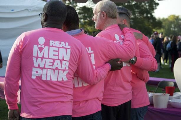 Real Men Wear Pink breast cancer campaign