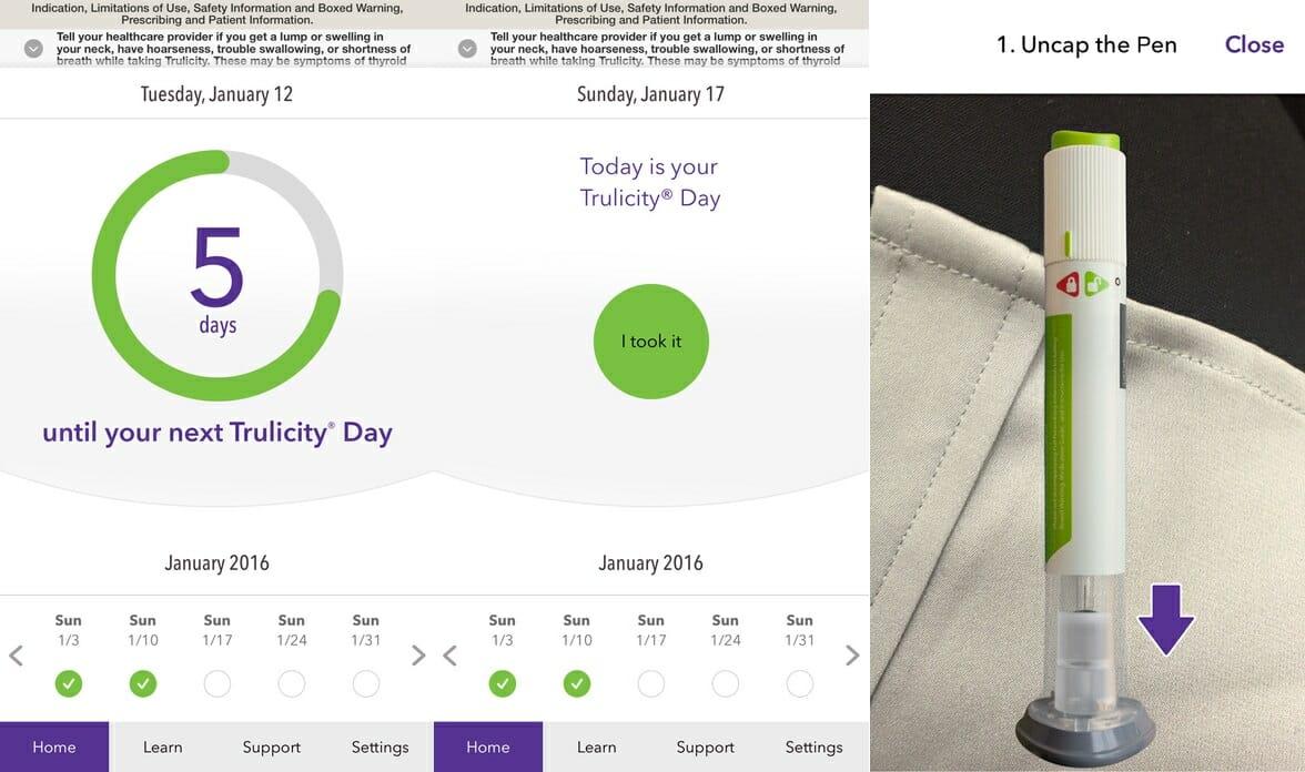 Trulicity branded diabetes app