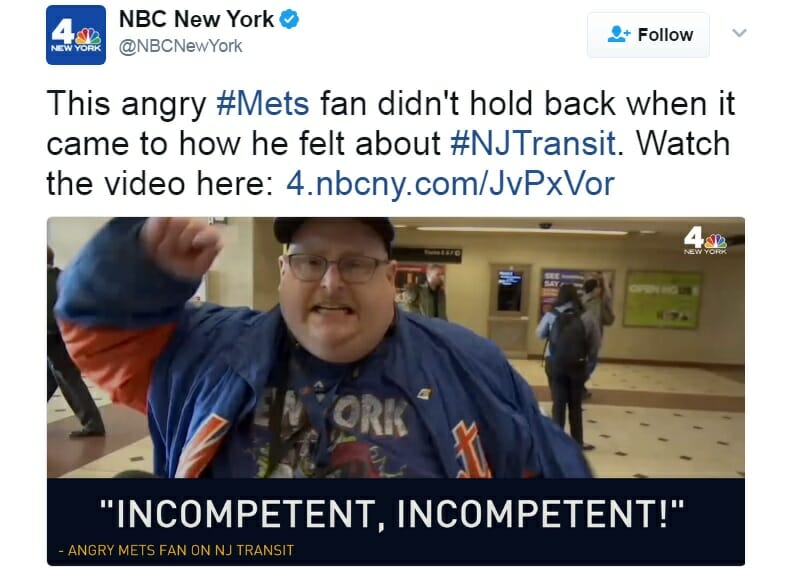 Excedrin acts fast to ease Mets fan's headache