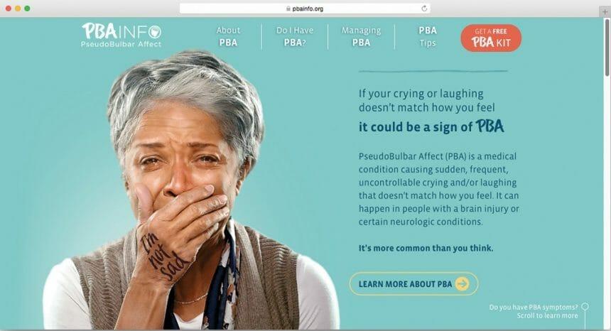 PBA Info Hand Print Website Avanir Pharmaceuticals AbelsonTaylor