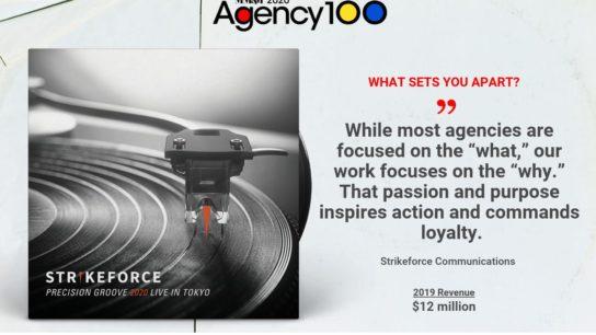 Strikeforce Communications 2020 Agency 100
