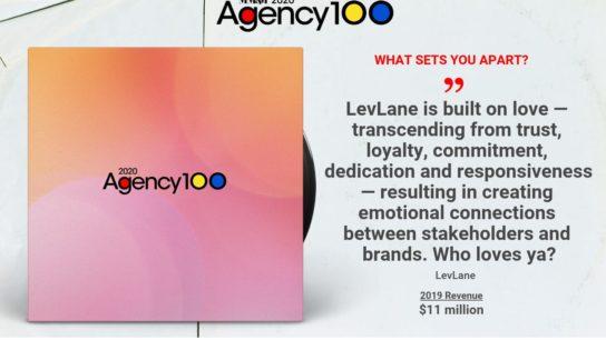LevLane 2020 Agency 100