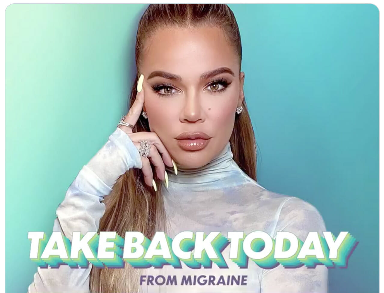Khloe Kardashian opens up about migraine in Nurtec ODT campaign