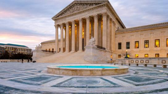 Blue Hour, United States Supreme Court Building, Washington DC, America