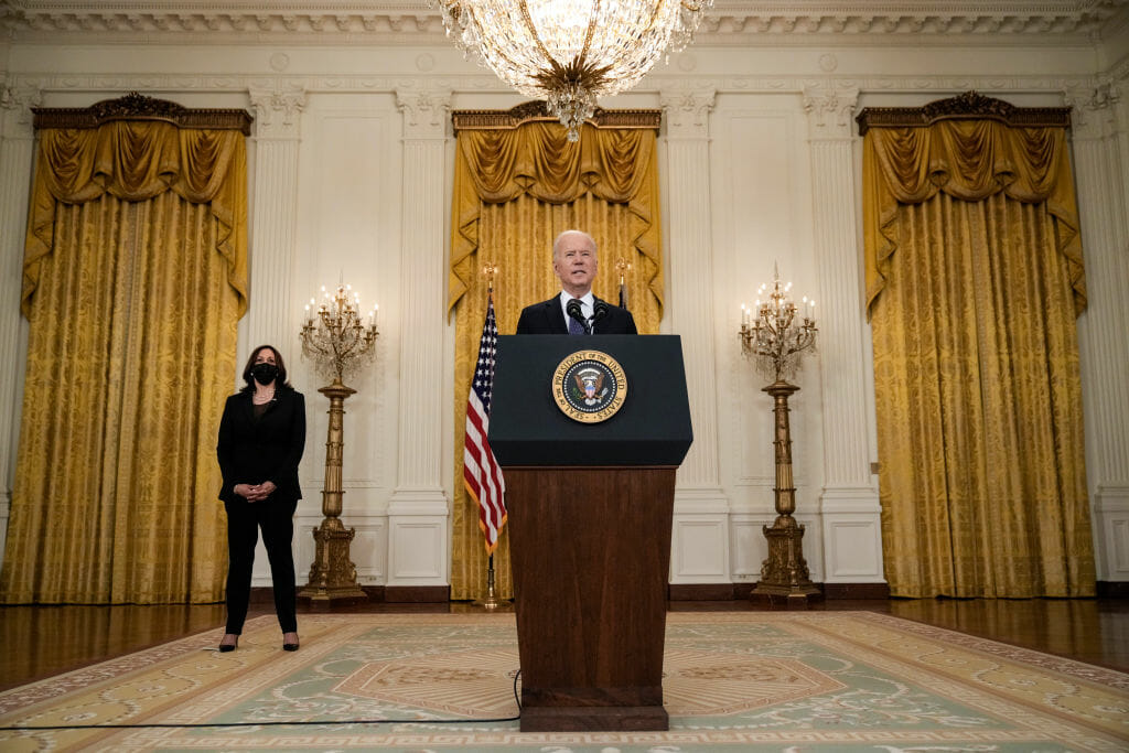 President Biden Delivers Remarks On The Economy From The East Room Of White House